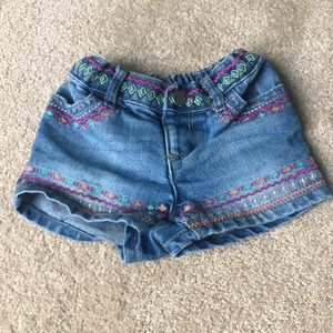 Jean Boho Chic Toddler Shorts 2T